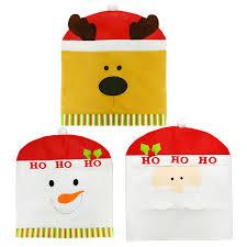 Christmas Chair Back Covers Online Shop Cartoon Christmas Chair Cover Snowman Santa Claus Elk