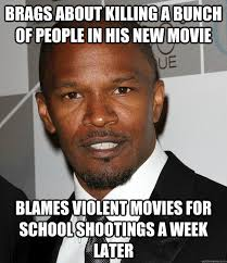 Jamie Meme - brags about killing a bunch of people in his new movie blames
