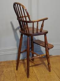 Childs Antique Chair Sold 19th Century Ash Beech And Elm Child U0027s High Chair Antique