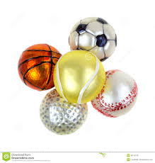 sports ornaments on white background stock photo image