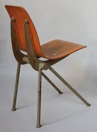 chaise prouv ateliers jean prouvé circa 1950 chaise à assise en bois multiplis