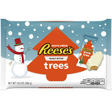 peanut christmas tree reese s white peanut butter trees snack size 10 8 oz