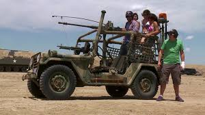 military jeep with gun 50 caliber mega machine gun video mancations travelchannel com