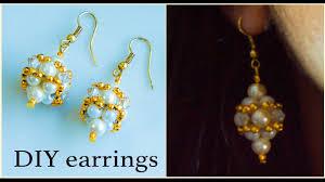 earrings diy how to make pearl earrings diy bridal earrings