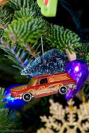 matchbox car ornaments wine glue