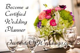 wedding planner certification wedding planner course institute of weddings