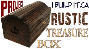 How To Make A Toy Chest Out Of Pallets by Making A Rustic Treasure Box Youtube
