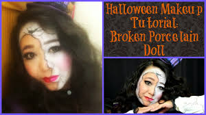 Broken Doll Makeup For Halloween by Makeupmaiworld Broken Porcelain Doll Halloween Makeup Tutorial