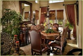 Tuscan Style Dining Room Decorating Above Kitchen Cabinets Tuscan Style Modern Cabinets