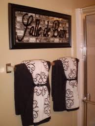 bathroom towel ideas love the idea of puttin french words around the house salle de bain