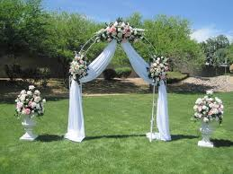 wedding arches how to stunning how to decorate a wedding arch with tulle and flowers 13