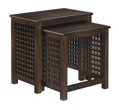 Ashley Furniture Bedroom End Tables Ashley Furniture T885 16 Roxenton Brown Casual Nesting End Table Set