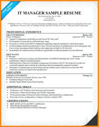 it manager resume exles sle resume for it manager it manager resume sle sle resume