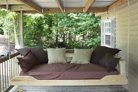 hanging porch swing bed plans in brown u2014 jbeedesigns outdoor