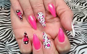 stiletto acrylic set l pink u0026 mermaid pigments l nail design youtube