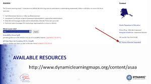 Dynamic Learning Maps Alaska Science Alternate Assessment Test Administration February