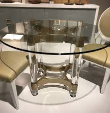 diamante acrylic and metal dining table mecox gardens