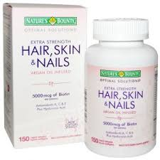 nature u0027s bounty extra strength hair skin u0026 nails 5 000mcg 150