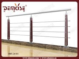Stair Banister Height Steel Wood Stair Handrail Designs Steel Pipe Stair Handrail