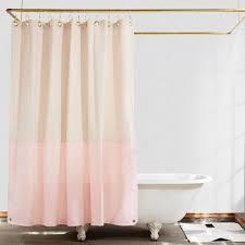 Cotton Canvas Curtains Orient Color Blocked Canvas Shower Curtain Town