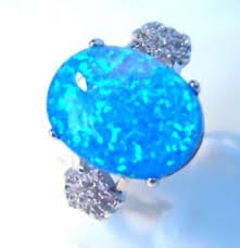 size 9 ring in uk new stunning oval blue opal ring uk size r us size 9 ebay