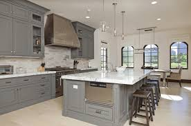 kitchen color ideas grey stained wall cabinets grey white