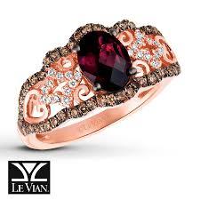 kay jewelers chocolate diamonds le vian chocolatier raspberry rhodolite garnet ring 3 8 ct tw