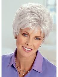 best old lady grey hair wig elder grey wigs p4