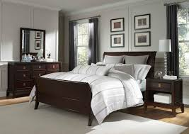bedroom simple wonderful dark brown wood headboard interior