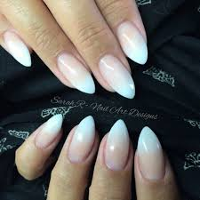 baby boomer faded ombré french acrylic nails ink london