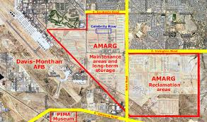 afb map davis monthan afb tucson az largest aircraft boneyard in the