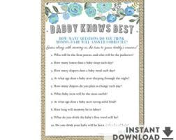 who knows best baby shower after february etsy