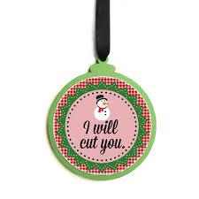 humorous ornaments winter hyde