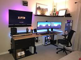Pc Desk Setup Uncategorized My Gaming Setup Pc Desk Mod And Room Tour