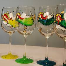 painted wine glass glorious goblets