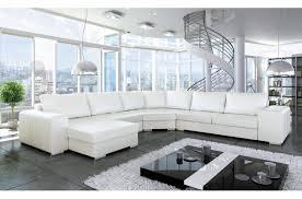 canapés de qualité canapé d angle convertible astore en simili cuir de qualité blanc