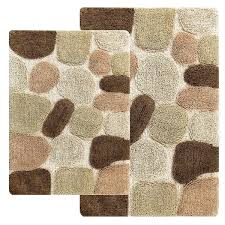 rockway pebbles cotton 2 piece bath rug set with bonus step out