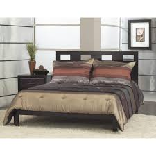 Modular Bed Frame Bedroom Furniture Black Wood Modular Frame With Plaid Pattern