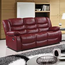 Sofa Stores Belfast Belfast Cranberry Red Recliner Sofa Collection In Bonded Leather