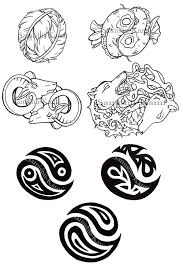 tribal yin yang tattoos designs