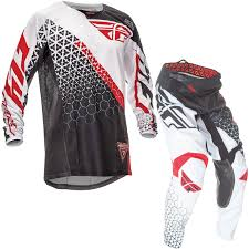 fly racing motocross gear fly racing 2016 youth kinetic trifecta black white red motocross