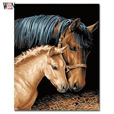 modern home decor olivia decor decor for your home and office frameless horse couples painting by numbers kits diy coloring painting by numbers drawing paint on canvas for home decor wallart