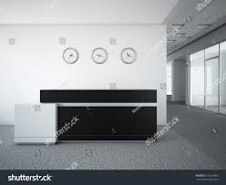 Circle Reception Desk by Office Lobby Reception Desk Stock Illustration 150655805