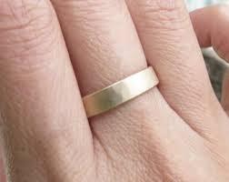 Wedding Ring Hand by Flat Wedding Band Etsy