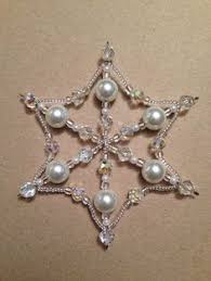 beaded snowflake ornament tutorial beaded snowflake