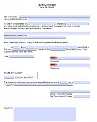 alaska quit claim deed form deed forms deed forms