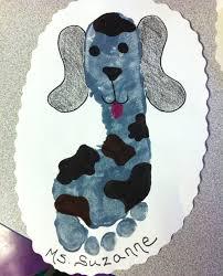 handprint dog preschool art for art to remember pinterest