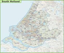 Map Of Holland Map Of South Holland With Cities And Towns