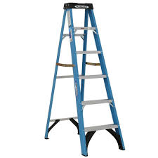 A Frame Ladder Lowes by Werner 6 Ft Fiberglass Step Ladder With 250 Lb Load Capacity