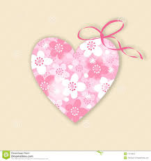 cute wedding birthday card invitation with floral heart stock